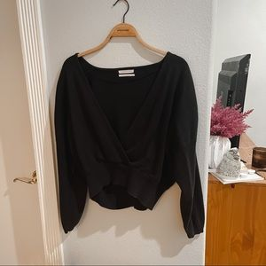 Black Urban Outfitters Crossfront Sweater